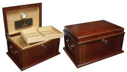 new-the-caesar-50-cigar-count-french-antique-walnut-finish-humidor-box