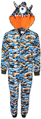Sleep On It Boy\'s Micro Fleece Onesie Pajamas with Character Hood (Cyclopes, 6-7)' -