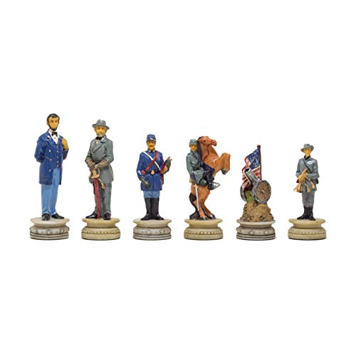 Regencychess The American Civil War Hand Painted Themed Chess Pieces by Italfama