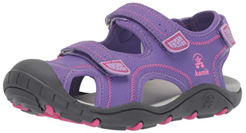 Kamik Girls' SEATURTLE2 Sandal, Purple, 1 M US Little Kid