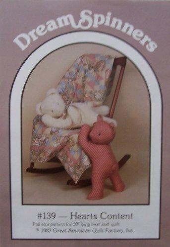 DreamSpinners Pattern 139 Lying Bear and (Lying Teddy Bear)