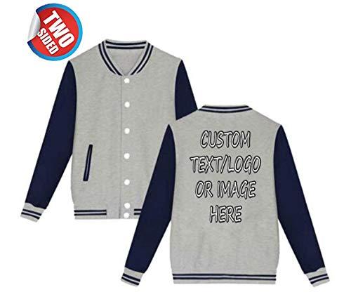 (Unisex Custom Varsity Jacket Personalized Baseball Jacket Uniform Sweater Coat)