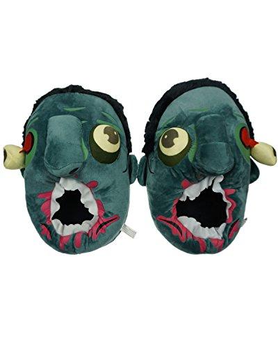 Minetom Unisex Herbst Winter Tierhausschuhe Plüsch Hausschuhe Pantoffeln Kostüme Warme Puschen Zombie