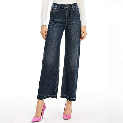 A Mvguihzpo Xl Larghi Donna Blue Vita Comodi Da Scoperta Alta Cowboy Gamba Pantaloni Larghi Jeans E Xs frax8r