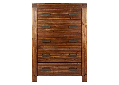THE ROOMPLACE Aspen 5 Drawer Chest In Walnut