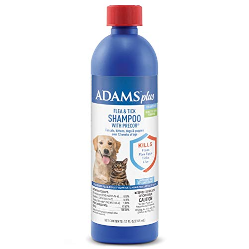 Adams Plus Flea & Tick Shampoo with Precor 12 Ounces