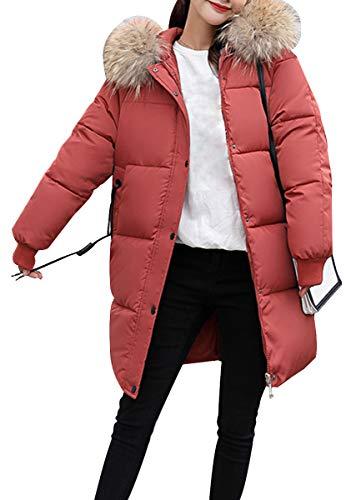 Women Cappotto In Arancione Outwear Pelliccia Parka Warm Blackmyth Colore Long Solido Winter Di Down dqpBxpwSX