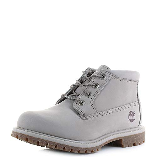 Timberland Women's Nellie Chukka A1NDR Nubuck Ankle Boot Pure Cashmere-Grey-5