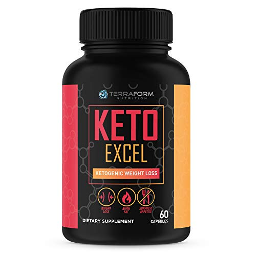 Cheap Keto Excel – Powerful Keto Diet Weight Loss Supplement – Achieve Maximum Weight Loss – Increase Energy & Focus – Thermogenic Fat Burner – 1 Month – USA Made