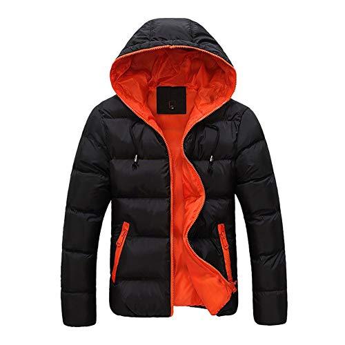 Leggero Da Caldo Arancione Uomo In Con Cappotto Imbottito Piumino Invernale Parka Outwear Cappuccio Koerim n8wPkXNO0