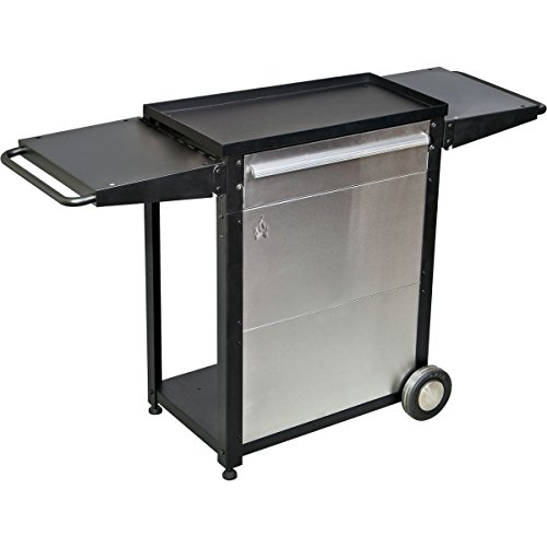 - Camp Chef Patio Cart, BLACK/SILVER,