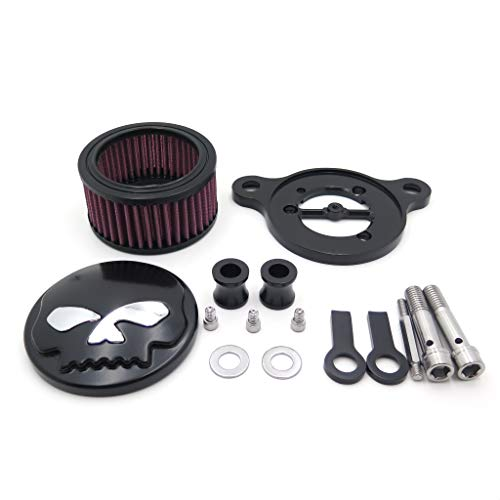(XKH- Replacement of Black Skull Eyes Air Cleaner Intake Filter System Kit For Harley Sportster XL883 XL1200 1988-2015 )