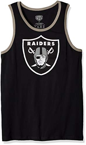 - NFL Oakland Raiders Men's OTS Cotton Tank, Distressed Logo, Small