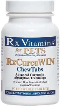 RxCurcuWIN Advanced Curcumin Absorption Technology, 90 HardChews -46 Times More Bioavailable Than Standard Curcumin, Rx Vitamins for Pets