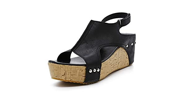 a9594031d57c1 Amazon.com : DingXiong Women Sandals 2018 Wedges Shoes High Heels ...