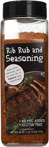 Rib Rub and BBQ Seasoning (26 Oz Professional Pack) - No MSG Gluten Free - 1 LB 10 OZ, 737g - Excellent Seasoning for Beef, Chichen, Lamb, Fish, and Vegis