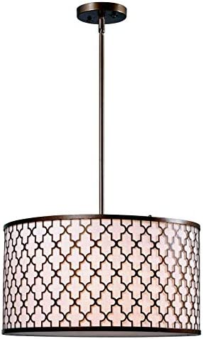 Kenroy Home 93373AG Tripoli 3-Light Pendant