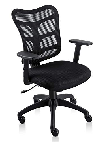 Task Arm Office Chair - Ergonomic Office Chair Lumbar Support Mesh Chair Computer Desk Task Chair with Armrests