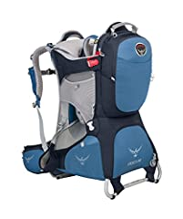 When your back and hips hurt, hiking isn't fun. Especially when you've got a squirmy little one on your back. So osprey incorporated their award winning ag (anti-gravity) backpack suspension system into the poco ag plus child carrier. Lightwe...