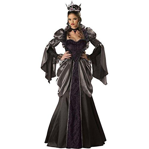 InCharacter Costumes Women's Wicked Queen Costume, Black, Large -