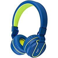 Bluetooth Headphones, Biensound BT05 Stereo Lightweight Foldable Headphones Wireless Bluetooth Headset with Microphone and Volume Control for Cellphones TV Laptop Computer Headphones £¨Blue Green£