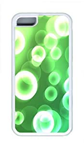 iPhone 5C Case and Cover - Green Dreamy Effect Cool TPU Case Cover Protector For iPhone 5C - White