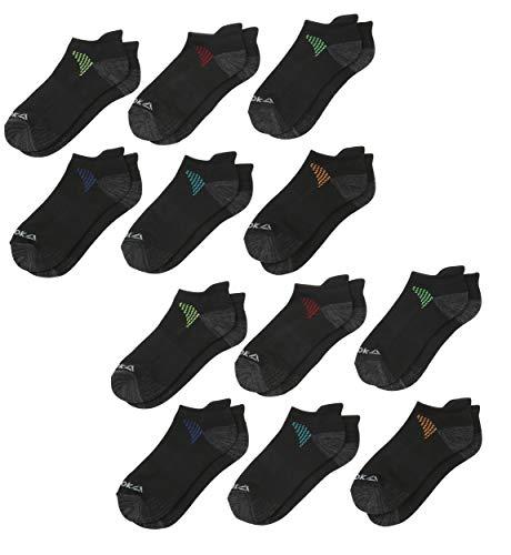 'Reebok Boy\'s 12 Pack Low Cut Basic Socks (Small/Shoe Size: 4-8, Black Tab)'