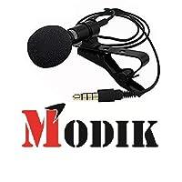 MODIK Genuine Original 3.5mm Clip-on Mini Lapel Lavalier Microphone for Android/iOS Device (Black)