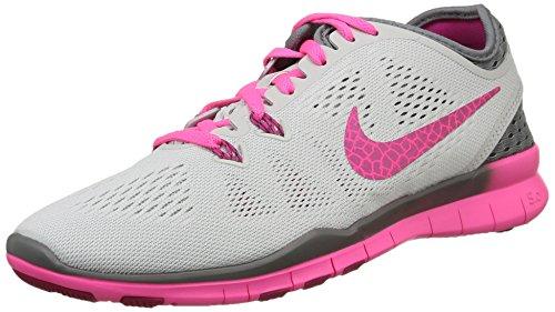 Nike Womens Free 5.0 Sneaker Running Platino / Grigio / Rosa / Fireberry
