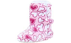 PajamaMania Women's Slipper Boots with Rubber Sole