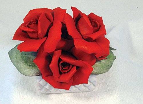 Capodimonte Red Rose in a Basket