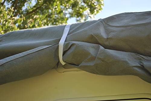 414l1XOj7mL HBCOLLECTION Atmungsaktiv Stabil Schutzhülle für Wohnwagen (3,80 m Länge (2,15 x 2,20 m/Breite x Höhe))