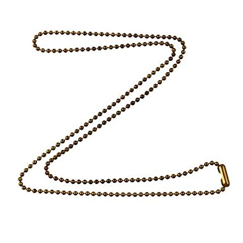 1.8mm Fine Antique Brass Ball Chain Necklace with Extra Durable Color Protect Finish - 30 Inches (Chain Necklace Brass)