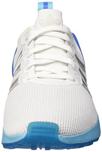 adidas Zx Flux Adv K, Zapatillas Bajas para Niños Ftwwht/Ftwwht/Bluglo