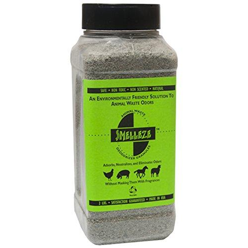 SMELLEZE Natural Poop Smell Removal Deodorizer: 2 lb. Granules. Removes Fecal Stink