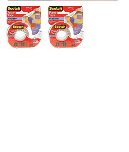 3M 109 Wallsaver Removable Mounting Tape, 2-pack Size: 2-PACK, Model: (Tools & Outdoor gear (109 Removable Poster Tape)