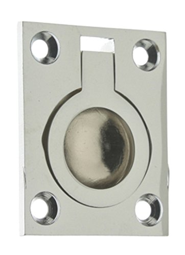 idh by St. Simons 25220-026 Professional Grade Quality Genuine Solid Brass Flush Ring Pull, Polished Chrome