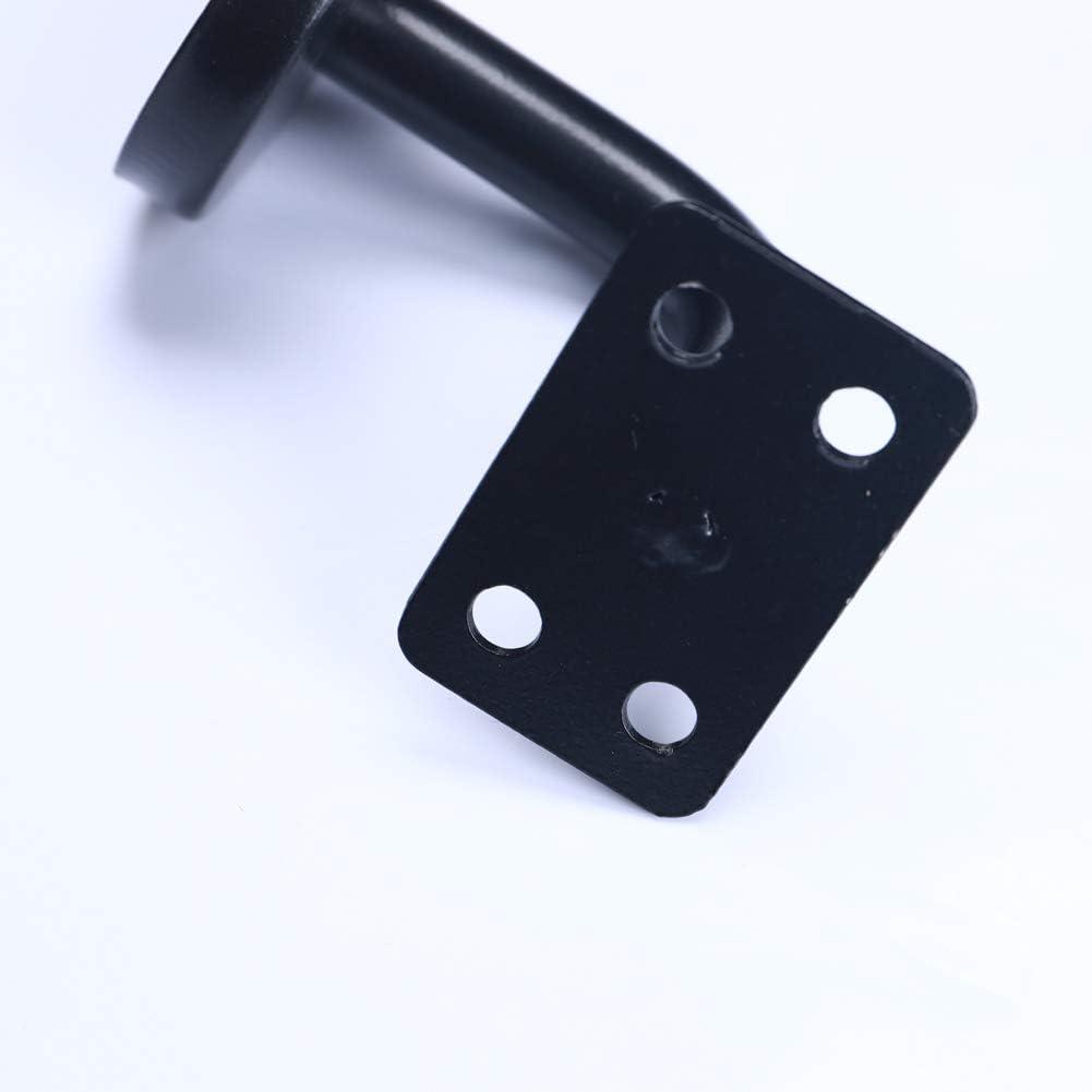 5 unidades junta curvada soporte de riel s/ólido negro Soporte de barandilla resistente pasamanos de escalera
