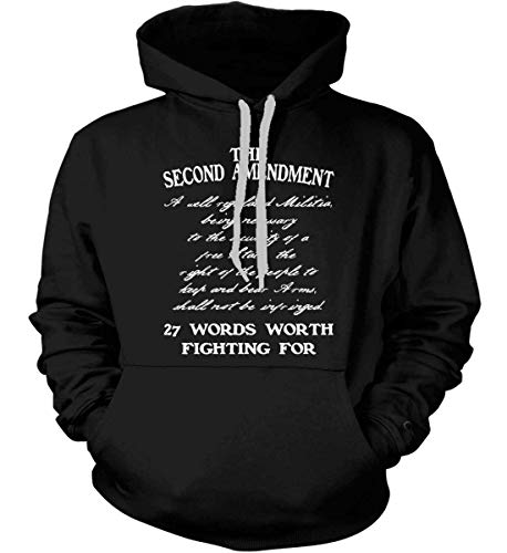 Sons Of Liberty Hoodie: The Second Amendment. 27 Words Worth Fightin Black/LR.