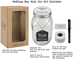 Top Shelf Wedding Wish Jar Unique And Thoughtful Gift Ideas For Newlyweds Novelty Gift For Bridal Shower Engagement Party And Wedding Reception Kit Comes With 100 Tickets And Decorative
