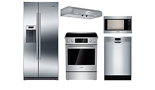 Amazon Com Bosch 5 Piece Stainless Steel Kitchen Package With