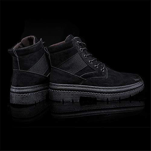 Et Yajie 44 Hommes color Pour Rond Gamme boots Chaussures À Taille Décontractées Loisirs Haut Confortable Eu Noir De Imperméables Bottes Bout Marron SxCpzwqSr