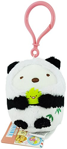 - San-X Sumikko Gurashi 5th Anniversary Plush PANDA BEAR for Bag Strap/Keychain/Charm