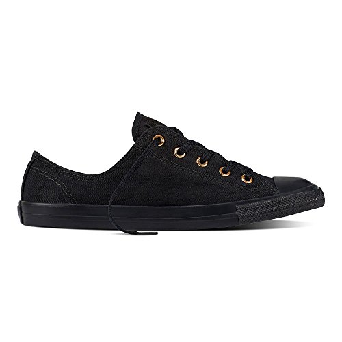 Converse Womens Chuck Taylor All Star Scarpe Da Ginnastica In Canvas Nero Lucido