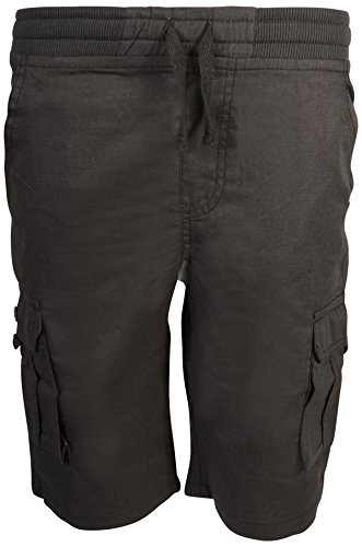 Quad Seven Boys Pull-On Ripstop Cargo Shorts, Charcoal, Size 12' ()