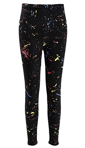 Women's Neon 80s Paint Splatter Leggings