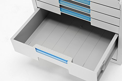 System-2 Key File Cabinet 7 Drawers Office Home Desk Supplies Lock Function 1207K