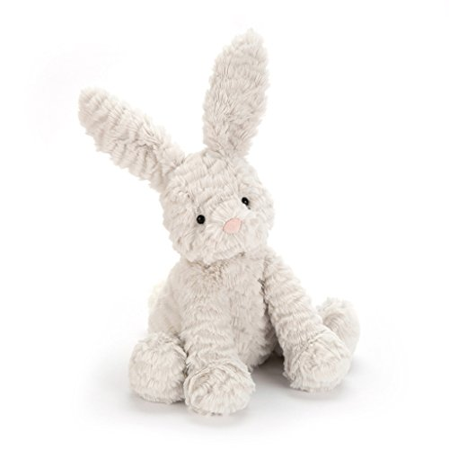 Jellycat Fuddlewuddle Grey Bunny, Medium, 9 inches