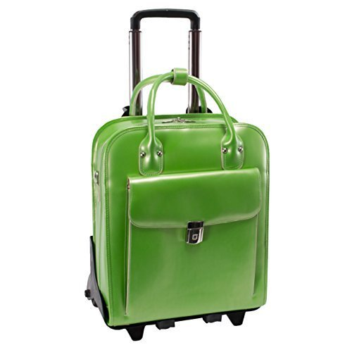 McKlein La Grange Vertical Rolling 15.4'' Laptop Bag - Green by McKleinUSA