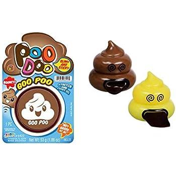 Amazon.com: Poo Doo Goo Poo Slime masilla de cabeza de caca ...